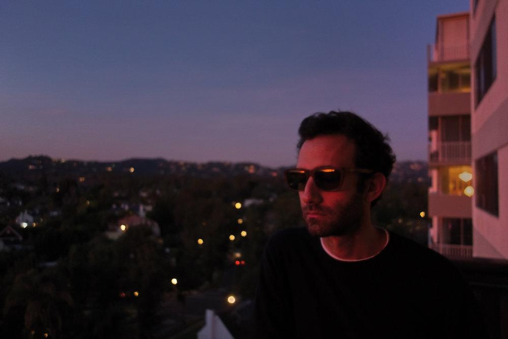 Californian artist Alex Israel watching a Sunset, 2013