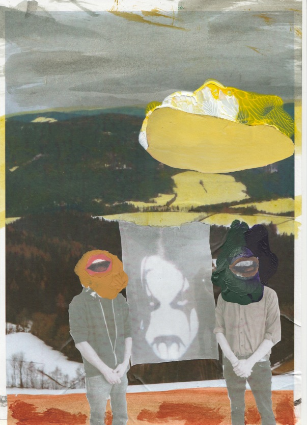 Study (From The Frozen Land) 2015, Collage, peinture 21x29cm.jpeg