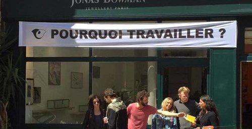 POURQUOI TRAVAILLER ?      After Liam Gillick   à La LIbrairie Tropicool   1er mai 2016