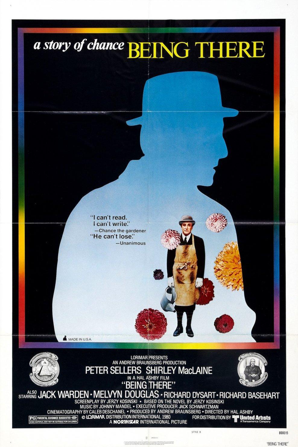 LE RÉEL SANS DOUBLE   À propos du film  Being There  (1973) de  Hal Ashby   Août 2017