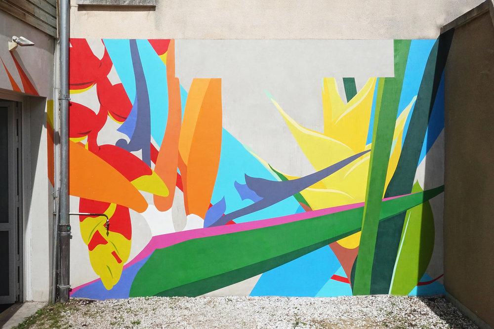 À l'orée d'une île inhabitée (2016), Florian Viel. Fresque  in situ .