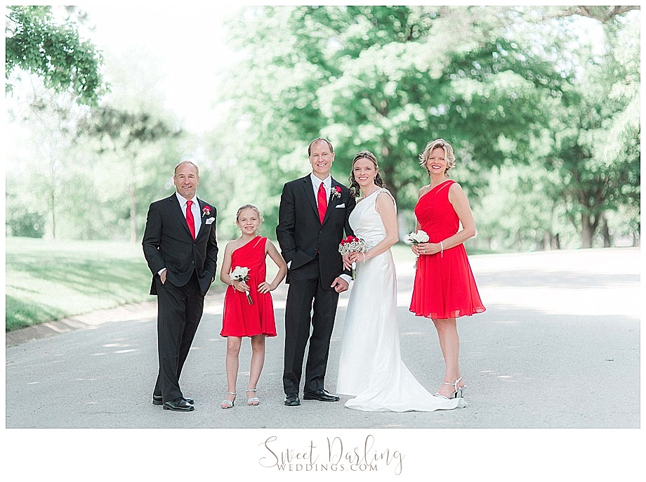 Bridal party pics at Bloomington Miller Park