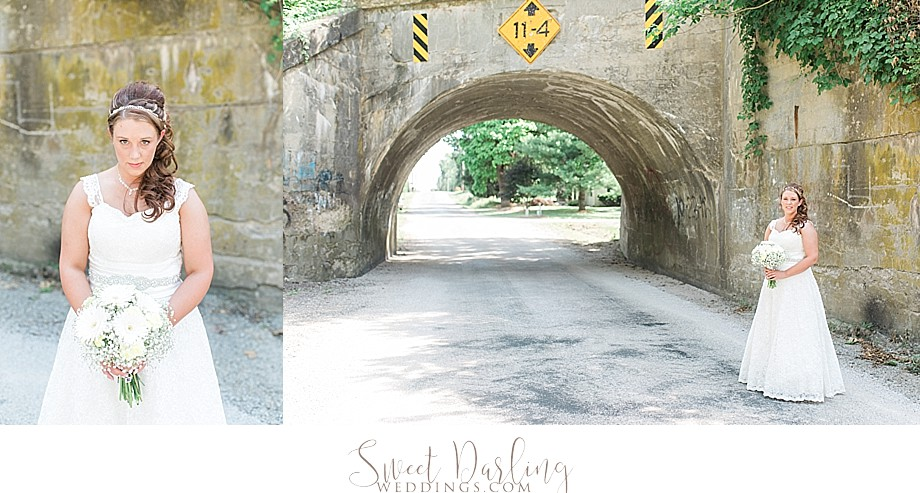 Photos of bride using road as natural reflector