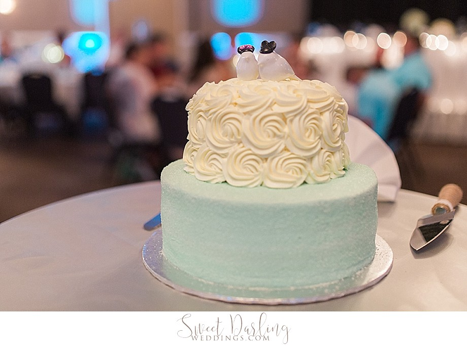 seafoam green and cream floral cake