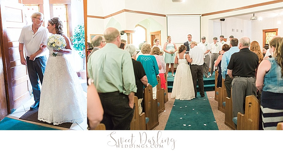 ceremony pics at downs united methodist church