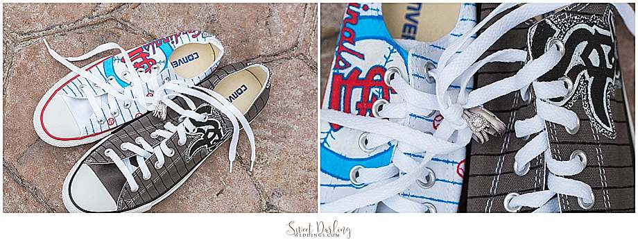Custom Converse Cardinals and White Sox shoes