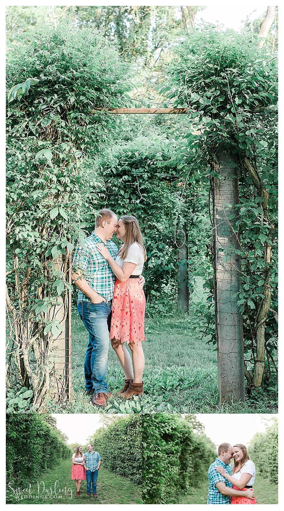 Engaged couple at Allerton Park Monticello IL