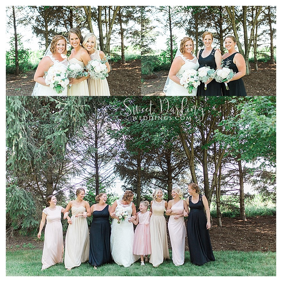 various bridesmaids dresses blush champagne and black