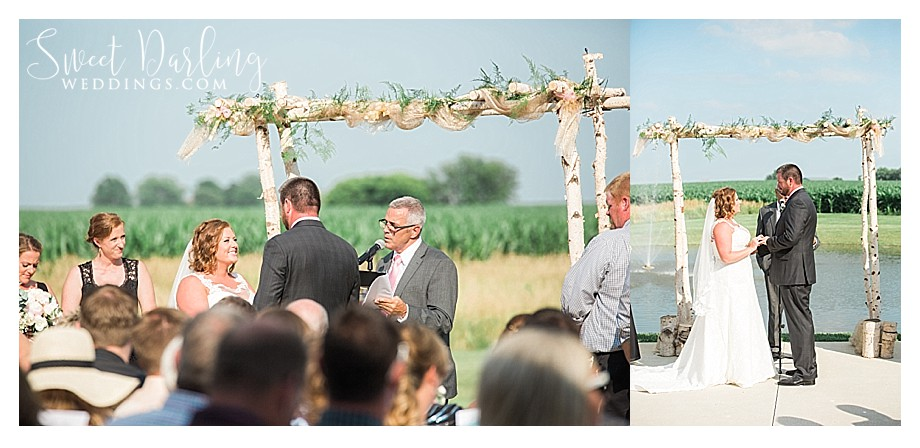 outdoor wedding ceremony at Pear Tree Estate