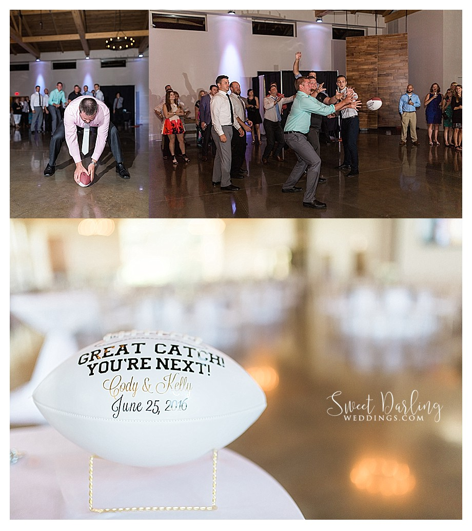 football toss instead of garter toss idea