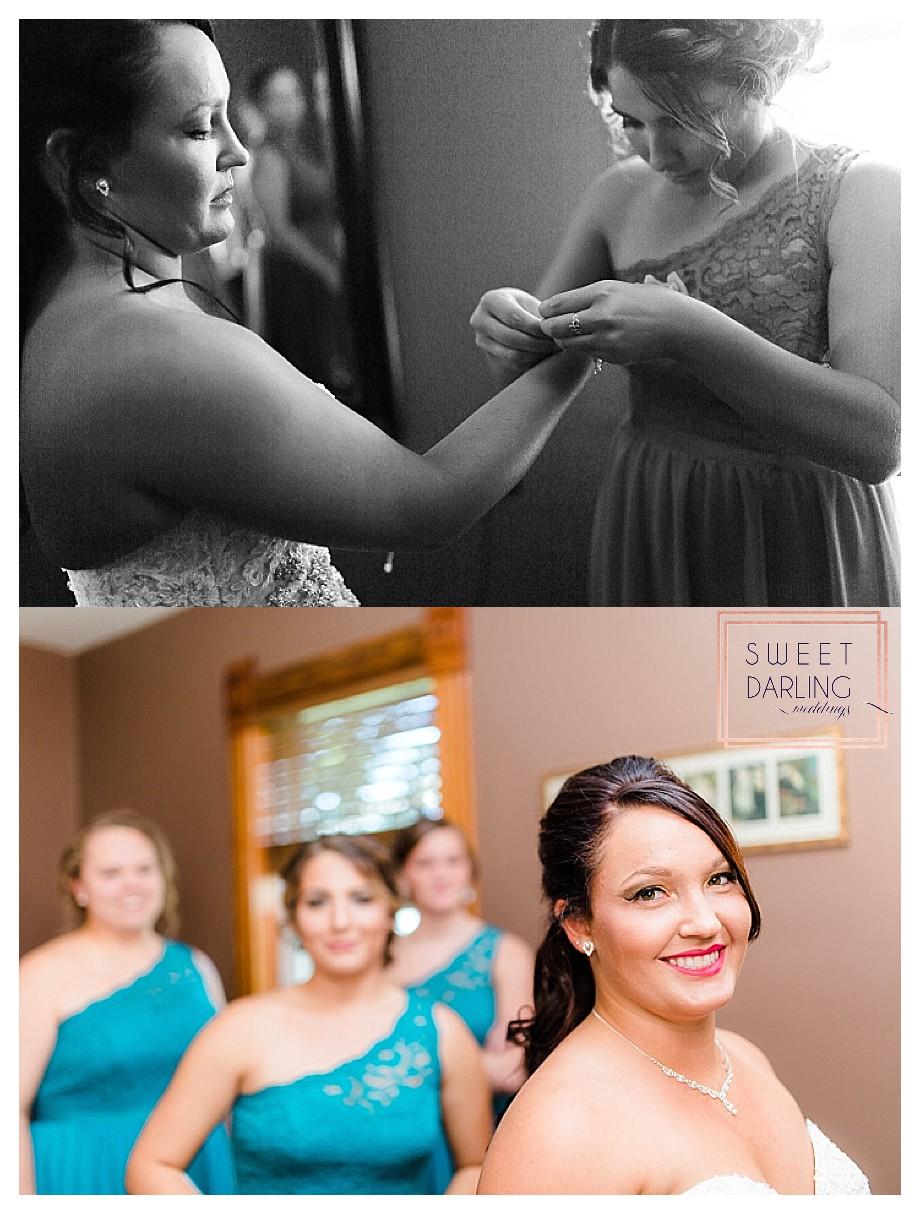 bridesmaids teal aqua dresses