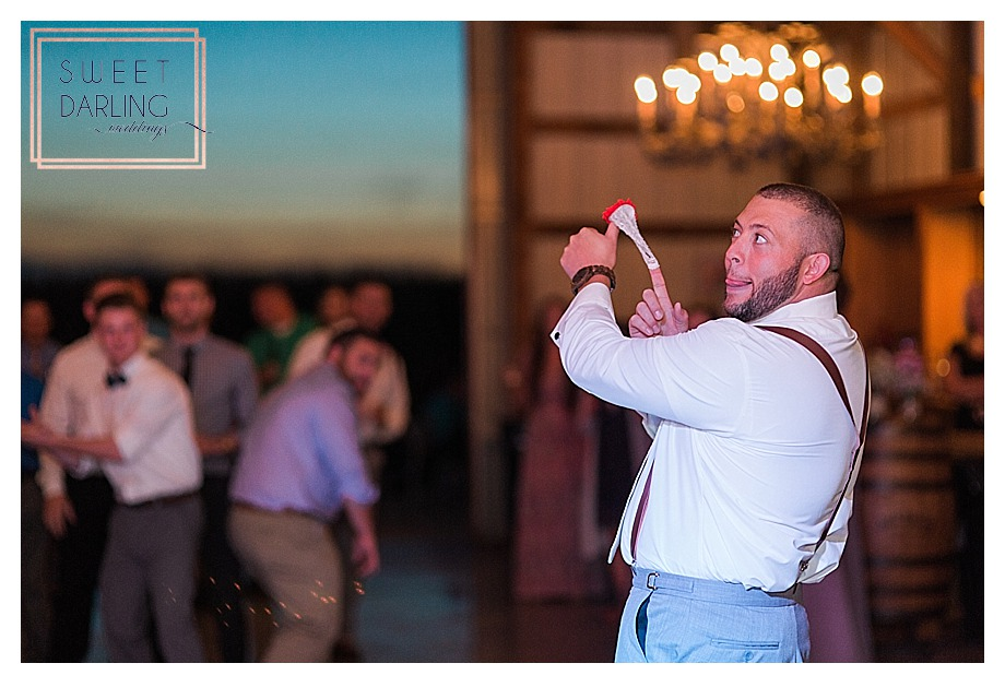 garter toss for all the single men