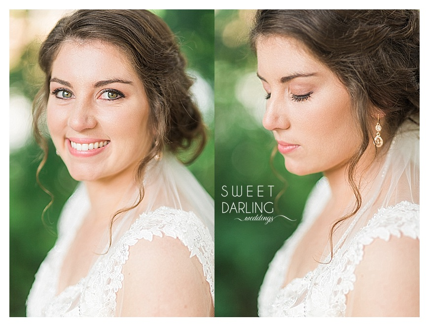 bride with make-up applied by TK Salon, Mahomet