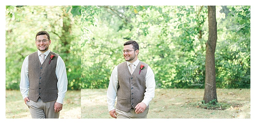 the groom in a tweed vest