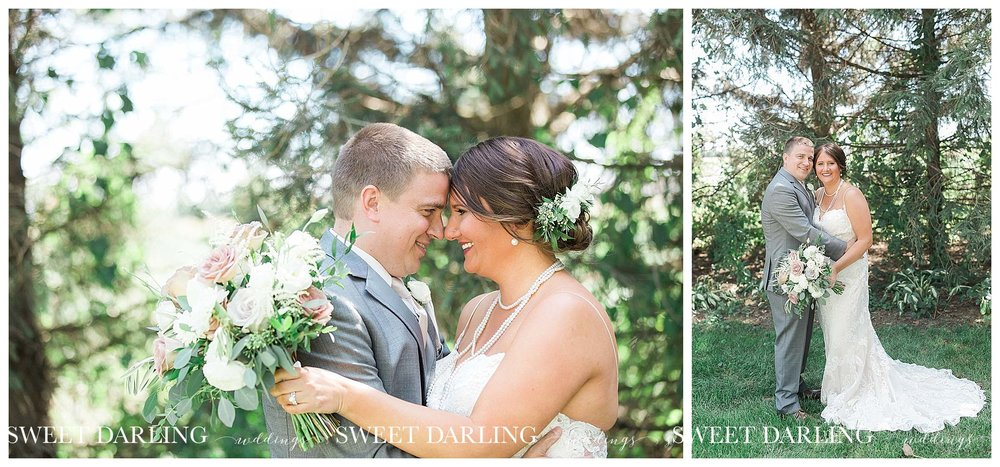 Bride and groom portraits in Champaign, Illinois