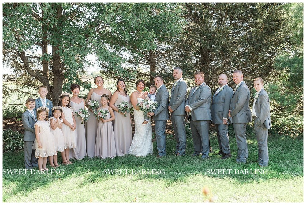 Bridal party photos at Pear Tree Esate