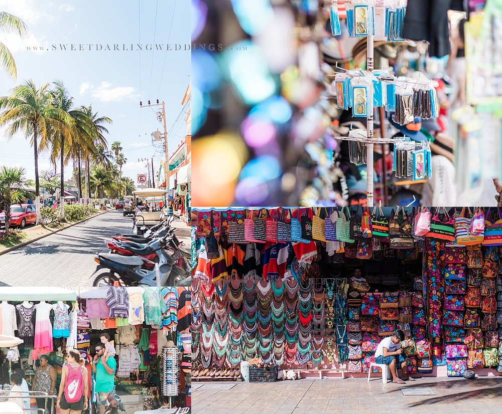 Colorful shops on the streets of Isla Mujeres