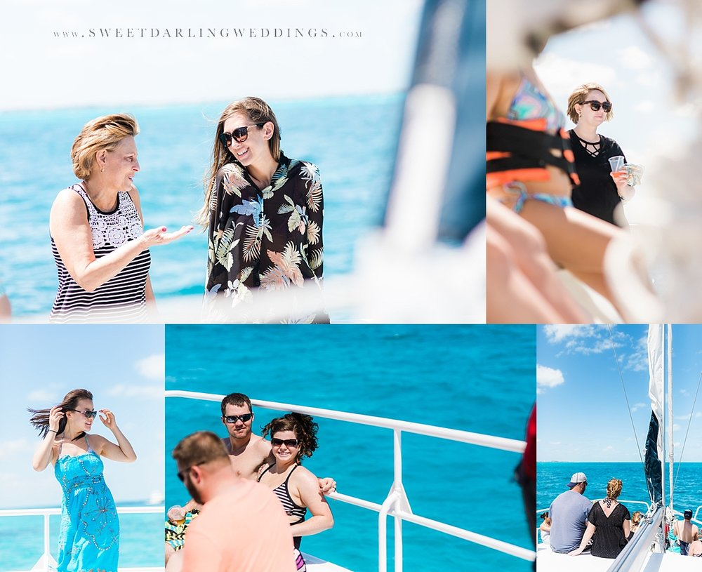Sunshine and blue waters on a catamaran to Isla Mujeres
