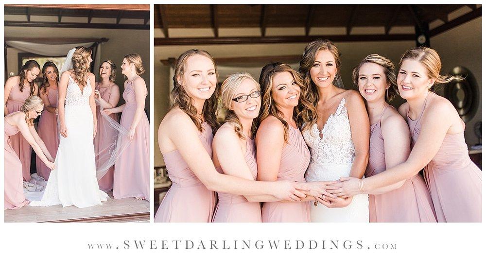 Bridesmaids in blush at Riviera Maya, Mexico