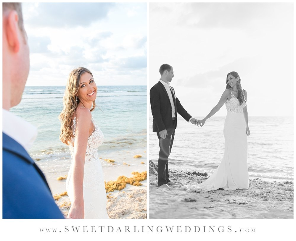 Trash the dress pictures at Secrets Silversands, Mexico