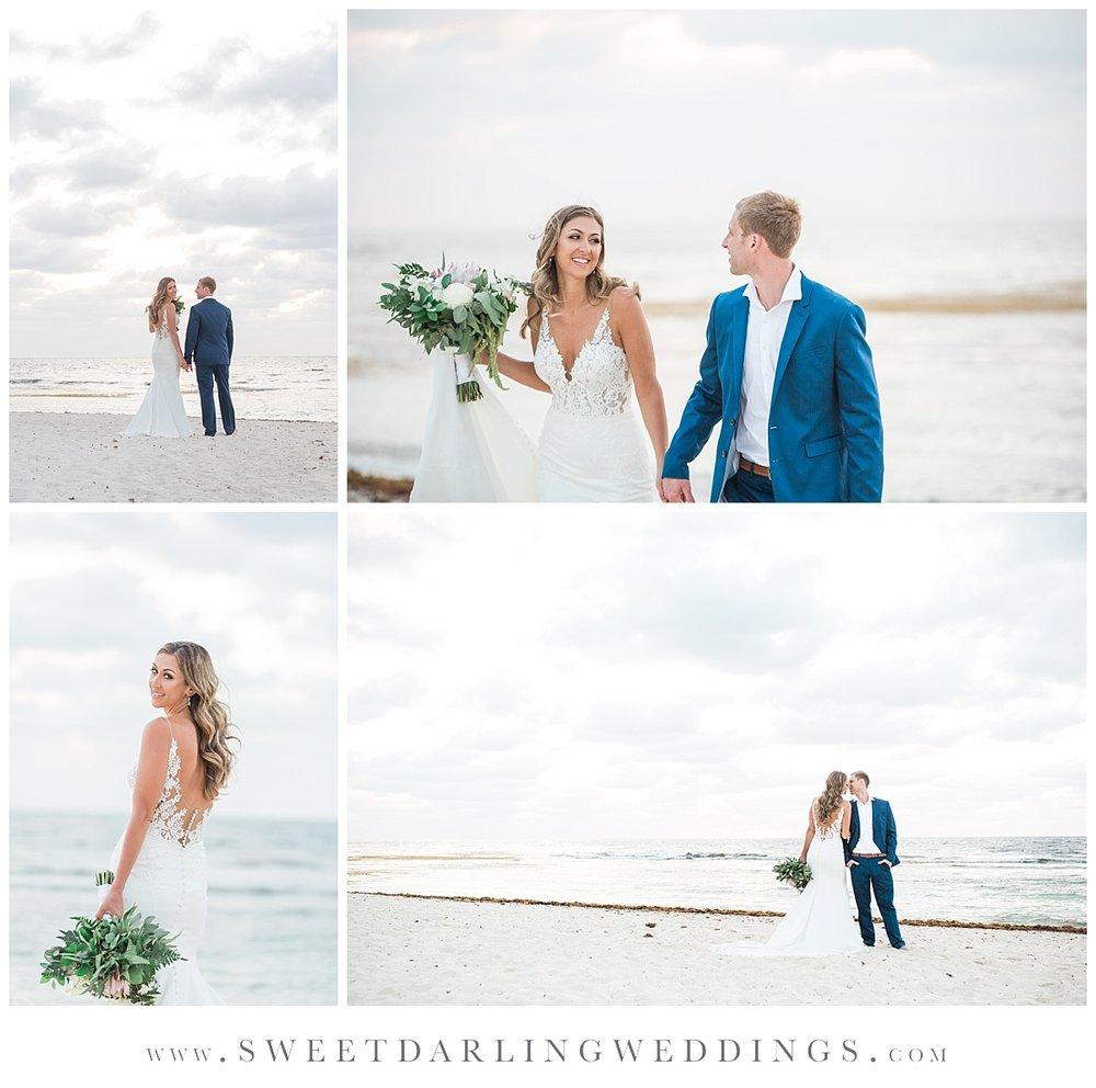 Desination wedding sunrise session trash the dress Secrets Silversands