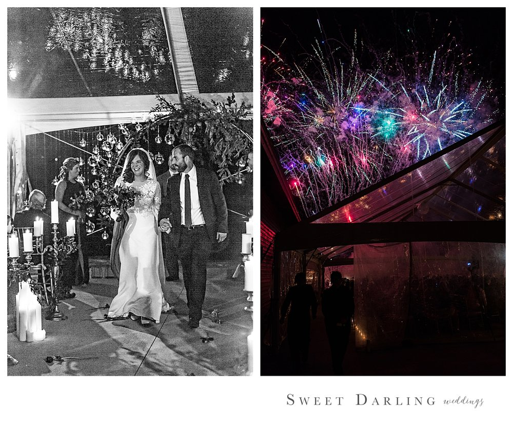 """Fireworks while walking out of your ceremony?   No problem - one of us will run outside and capture the show while the other captures your joy at becoming """"man & wife!"""""""