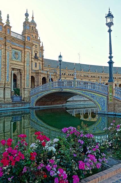 Seville Historic Flowers Palace Plaza De Espania