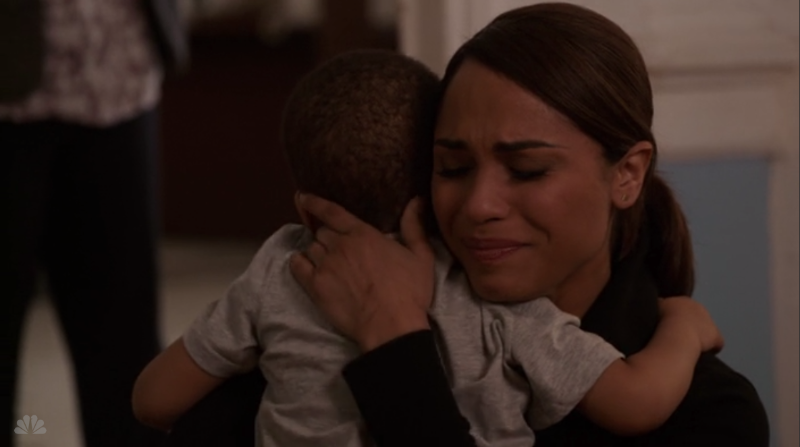 Chicago Fire, Gabriela Dawson & son Louie reunite for a brief hug