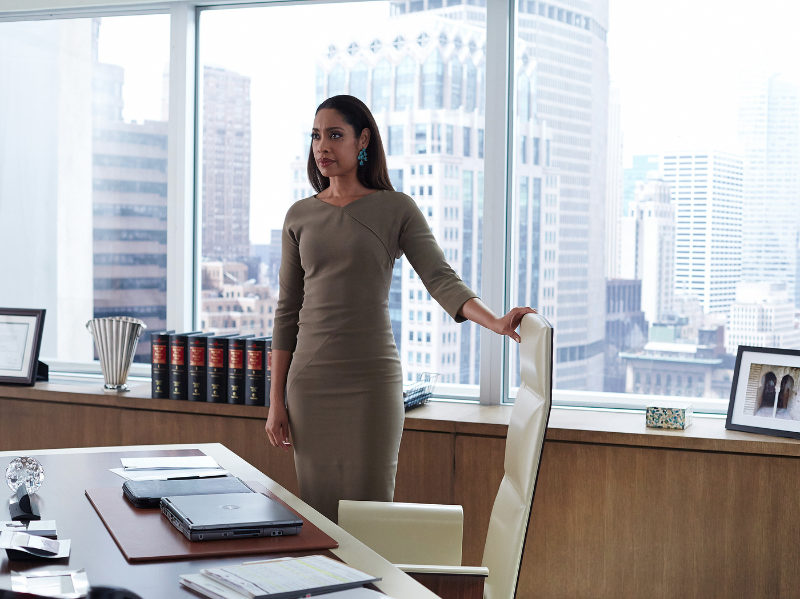 (Suits' Jessica Pearson (Gina Torres) in her element at Pearson Specter Litt.)