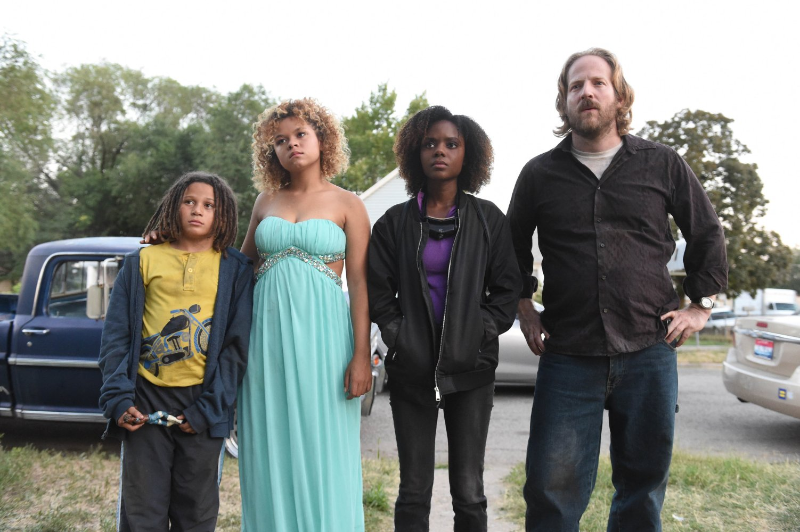 (Tanners from left to right- Jet (Lance Gray) Laney (Crow) Deidra (Murray) and their father Chet (David Sullivan)