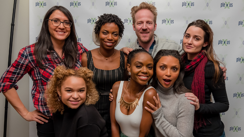 The cast including Sasheer Zamata (Ms. Spencer) with director, Sydney Freeland (Her Story) writer, Shelby Farrell at movie premiere.
