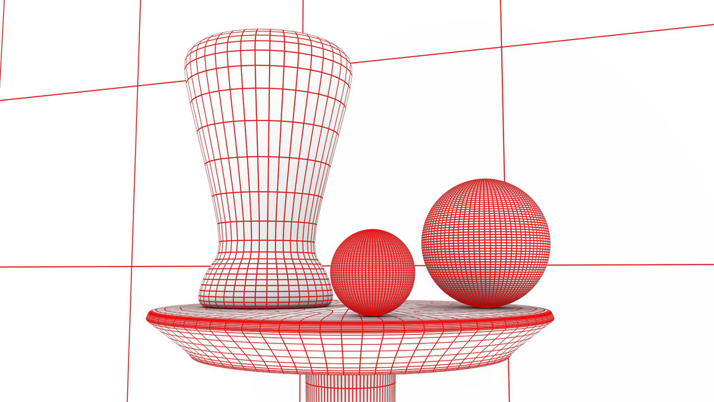Arnold Renderer - Studio Lighting (Wireframe)