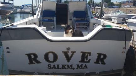 My buddy Lucas on 'Rover'