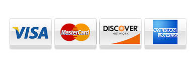 For your convenience we accept all major credit cards.
