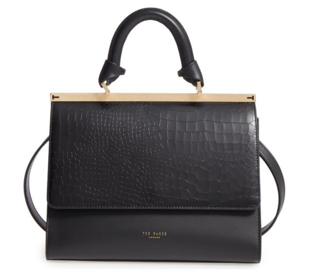 Ted Baker Croc Embossed Handbag