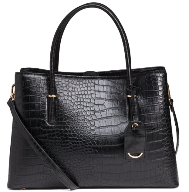 H&M Crocodile Patterned Handbag