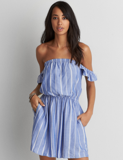 AEO Off the Shoulder Fit and Flare Dress