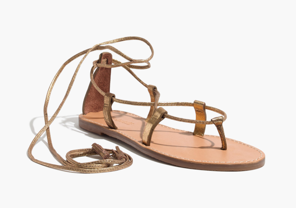 Madewell Boardwalk Lace Up Sandal