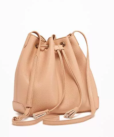 Old Navy Faux Leather Bucket Bag