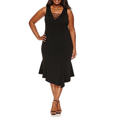 JC Penney Sleeveless Lace Up Dress Plus.jpeg