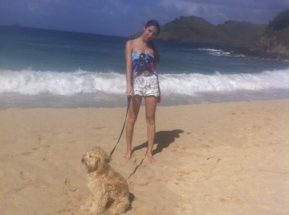 That time I walked the beach with my sister in St.Barths.  -