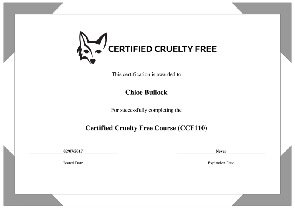 Example Of Certificate Completion