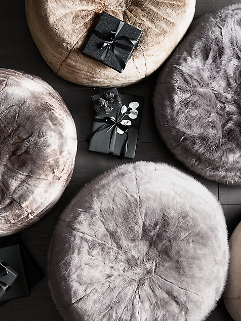 Best Faux Fur Bean Bag: Luxe Bean Bag by Restoration Hardware