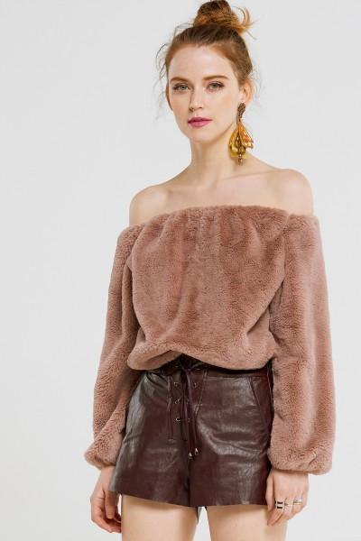 Faux Fur Top by Storets - US$54