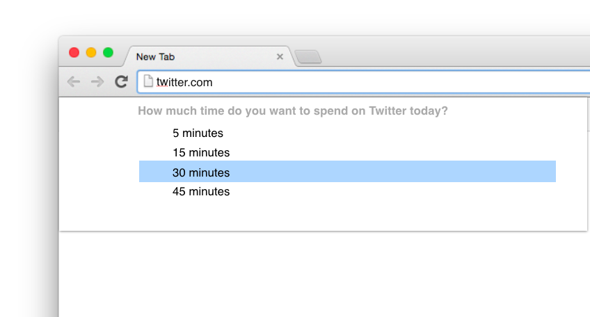 Browsers that respect how much time you want to spend in apps you want to control.