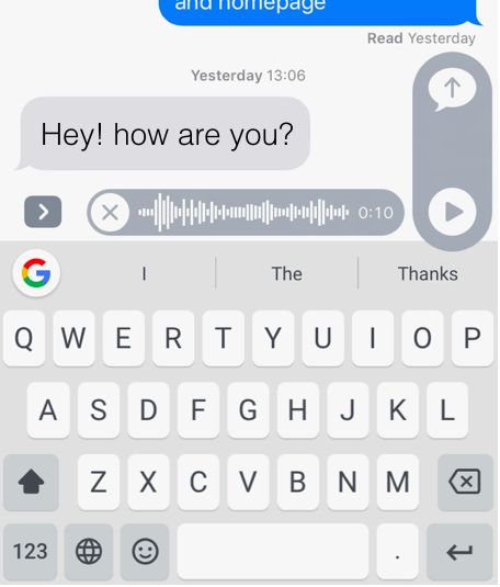 Instead of exchanging brief texts when someone asks us a big question, reply with a long voice notes – it's faster than typing, easier to record with less burden, and often lets you send a more authentic message later.