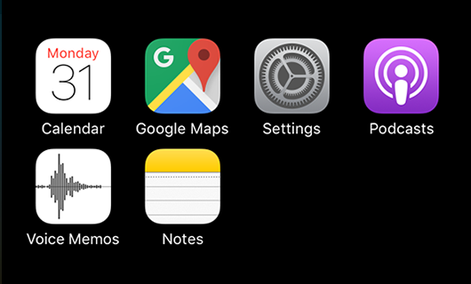"Set your home screen to the ""tool"" apps you use most frequently. Apps for quick in-and-out tasks."