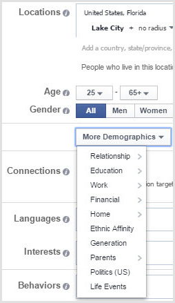 Facebook's advertisers can target based on what you've shared but also what it has inferred about you.