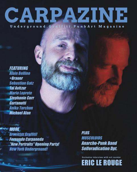 Cover for Carpazine, New York. Portrait of Eric LeRouge
