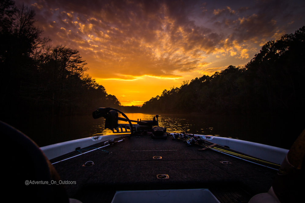 Sunset on the Angelina River in East Texas